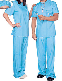 Cosplay Costumes / Party Costume Nurse Festival/Holiday Halloween Costumes Blue Solid Coat / Pants / Hats Halloween / Carnival / New Year