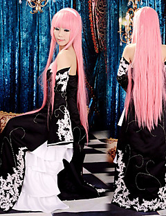 Inspired by Vocaloid Megurine Luka Video Game Cosplay Costumes Cosplay Suits / Dresses Patchwork Black Sleeveless Dress / Sleeves