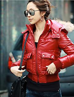 Lewen Красный Повседневная Короткие пальто с меховым воротником