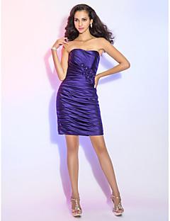 Cocktail Party Dress - Regency Plus Sizes / Petite Sheath/Column Strapless Short/Mini Satin