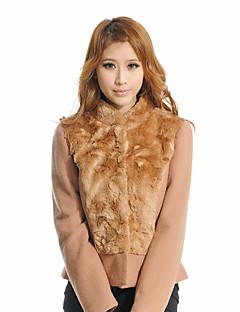 F.NY Camel Fur Collar Shirt Slim Short Jacket 1241287