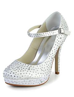 Feminino Wedding Shoes Saltos Saltos Casamento Vermelho/Marfim/Branco