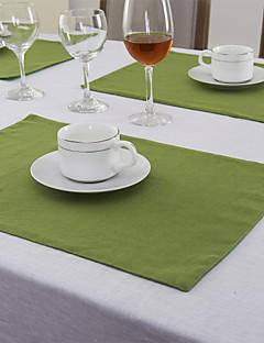 Ensemble De 4 Vert Napperons couleur lin
