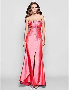 Formal Evening/Military Ball/Prom Dress - Watermelon Plus Sizes Sheath/Column Scalloped Floor-length Taffeta