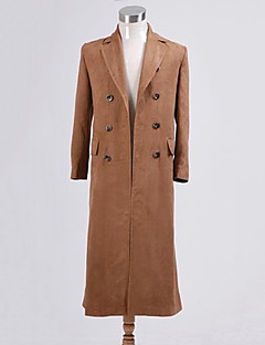 Who Is Doctor Brown Faux Suede Men's Long Trench