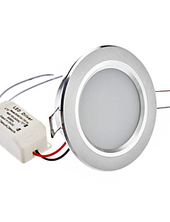 """2.5 """"4W 24x2835SMD 200-220LM 5800-6500K lumière blanche naturelle Ampoule LED de plafond (110-240V)"""