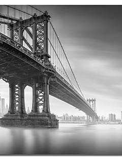 Stretched Canvas Art Landscape Manhattan Bridge 1 by Moises Levy