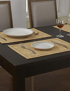 Ensemble De 4 Sets de Table Classique Beige