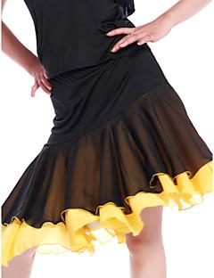 Jupes(Multicolore,Mousseline Viscose,Danse latine Salle de bal)Danse latine Salle de bal- pourFemme Entraînement Danse latinePrintemps,