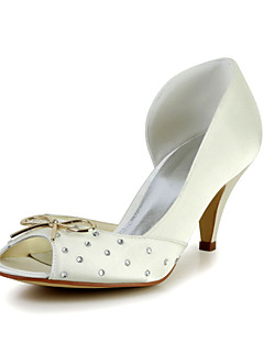 Mariée en satin Stiletto talon pompes avec un alliage mariage bowknot / chaussures pour occasions spéciales (plus de couleurs)
