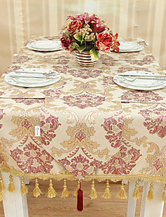 European Style Rouge et Or Nappe Floral