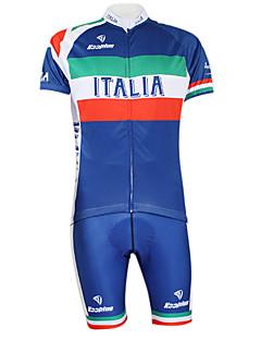 KOOPLUS® Cycling Jersey with Shorts Women's / Men's / Unisex Short Sleeve BikeQuick Dry / Windproof / Waterproof Zipper / Front Zipper /