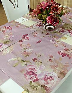 Ensemble de 4 Style chinois pivoine rose Napperons modèle