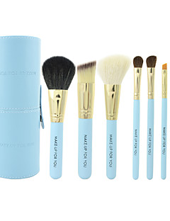 make-up per voi 7pcs portatile blu trucco set di spazzole
