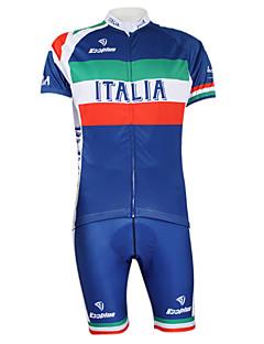 KOOPLUS® Cycling Jersey with Bib Shorts Unisex Short Sleeve BikeQuick Dry / Windproof / Waterproof Zipper / Front Zipper / Dust Proof /