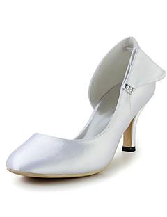 Noiva de cetim bombas estilete calcanhar com bowknot e strass casamento / Especial Ocasião Shoes (mais cores)