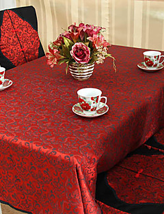 Red Style Polyester Nappe chinois