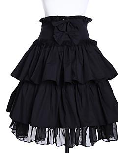 Sukně Gothic Lolita Lolita Cosplay Lolita šaty Černá Jednobarevné Lolita Short Length Sukně Pro Dámské Bavlna