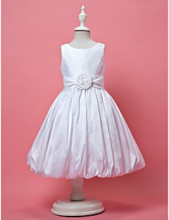 A-Lijn/Prinses Knie-Lengte Bloemenmeisje jurk - Taf Mouwloos