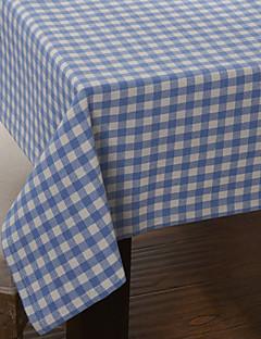 Country Style Bleu motif de vérification Table Cloth