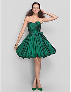 Homecoming Dress - Dark Green Plus Sizes A-line/Princess Sweetheart Short/Mini Taffeta