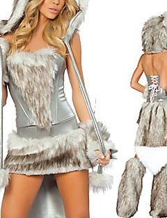 Gray Snowwolf Sexy Women's Animal Costume