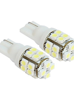 2kpl 20-SMD T10 12V White Light LED varalamppuja