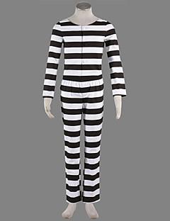 Lucky Dog Prisioneiro preto e traje de listras Homens Brancos