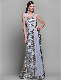 Официальный вечер/Бал Платье - Разноцветный Платье-чехол Бретель через шею  Длина до пола Джерси