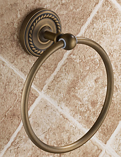 Antique Circle Bronze Brass Towel Ring