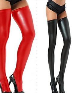 Close-fitting PU Leather Stockings