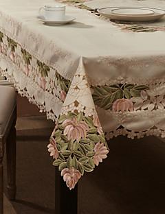 """59 """"X104"""" de style européen blanc de table en tissu floral"""