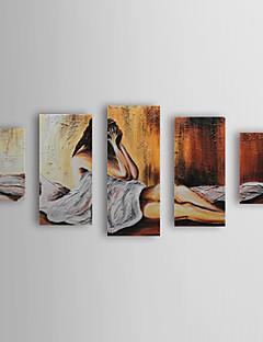 El 5 1309-PE1024 bir Gergin Frame Set Yağlıboya Resim kişiler Desperate Painted Lady