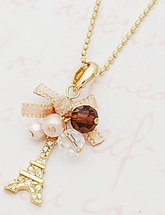 Žene Ogrlice s privjeskom Bowknot Shape Toranj Imitacija dijamanta Legura Moda luksuzni nakit Personalized kostim nakit Jewelry Za Party