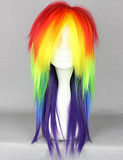 Rainbow Straight Punk Lolita Wig