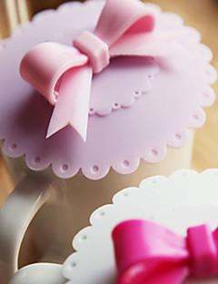 drie-dimensionale strik handvat lekvrije beker deksel (willekeurige kleur)
