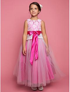 Blumenmädchen Kleid - Spitze - A-Linie/Princess-Stil - bodenlang - Ärmellos