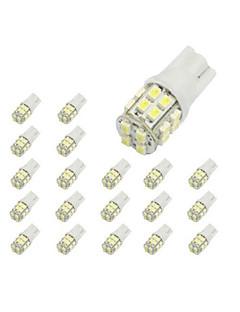 10 x T10 20 SMD 1210 weiße LED Auto-Glühlampe 194 168 2825 W5W
