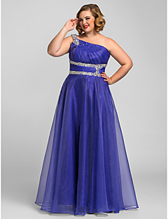 Prom/Quinceanera/Formal Evening/Sweet 16 Dress - Grape/Regency Plus Sizes A-line/Princess/Ball Gown One Shoulder Floor-length Organza