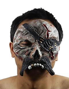 Maske Seeräuber Fest/Feiertage Halloween Kostüme Schwarz Druck Maske Halloween Unisex Latex
