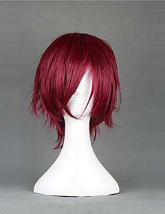 Cosplay Wigs Cosplay Rin Matsuoka Red Short Anime Cosplay Wigs 35 CM Heat Resistant Fiber Male