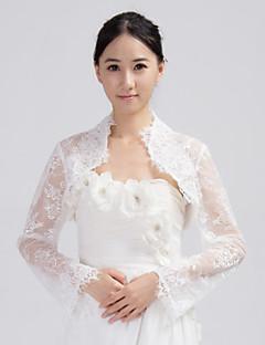 mode lang ærme blonder brude bryllup / speciel lejlighed wrap / aften jakke bolero skuldertræk