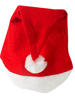 Mützen Santa Anzüge Fest/Feiertage Halloween Kostüme Rot Hut Weihnachten Samt