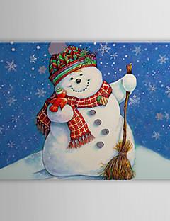 Toiles tendues Art Bonhomme de neige de Noël