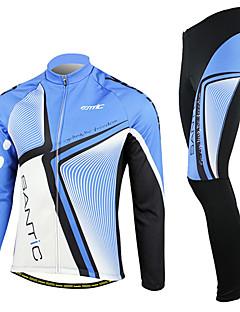 SANTIC® לגברים שרוול ארוך אופניים נושם / שמור על חום הגוף / עמיד / בטנת פליז / לביש מדים בסטים ספנדקס / 100% פוליאסטר / פוליאמיד / גיזות