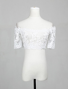 Wedding  Wraps Shrugs Half-Sleeve Lace White Wedding / Party/Evening / Office & Career / Casual Off-the-shoulder Lace