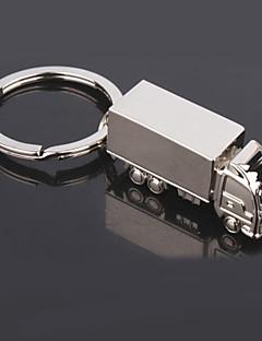 Moda Kamion Shaped Silver Keychains