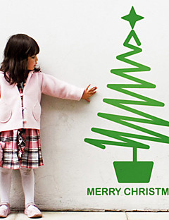Holiday Christmas Tree with Star Wall Stickers