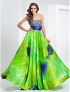 TS Couture® Prom / Formal Evening / Military Ball Dress - Floral Plus Size / Petite A-line / Princess Strapless / Sweetheart Floor-length Stretch