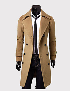 MEIKEPAIM Gorgeous Double Breasted Tweed Long Overcoat(Camel)